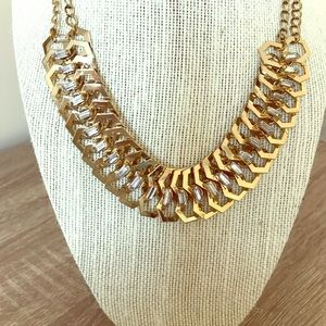 Gold Tone Nygard Choker with Baguette Rhinestones!